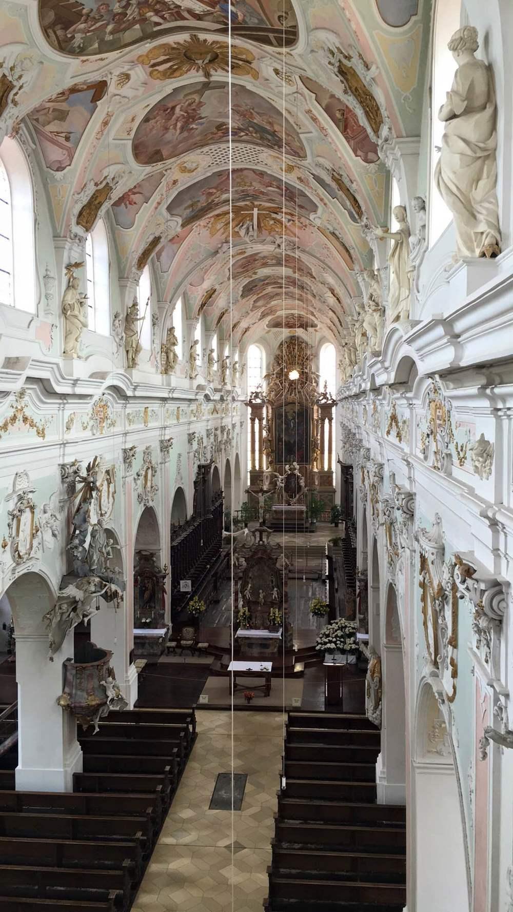 The nave of the monastery in Ochsenhausen