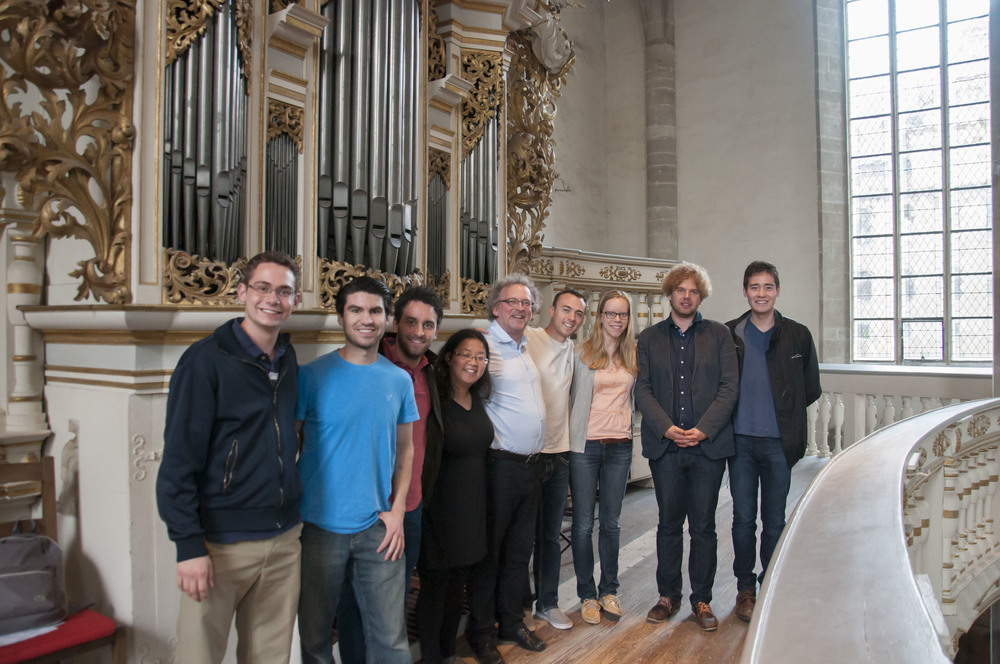With Michael Schönheit and Denny Wilke, our wonderful Merseburg Dom hostsin front of the Ladegast Organ