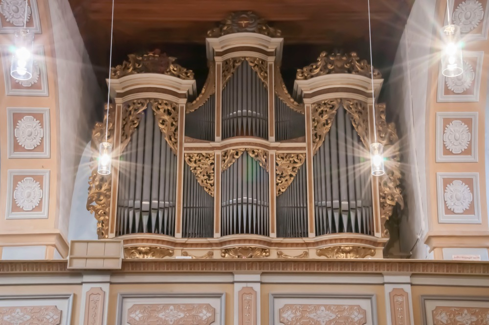 One of the Silbermann organs in Rötha