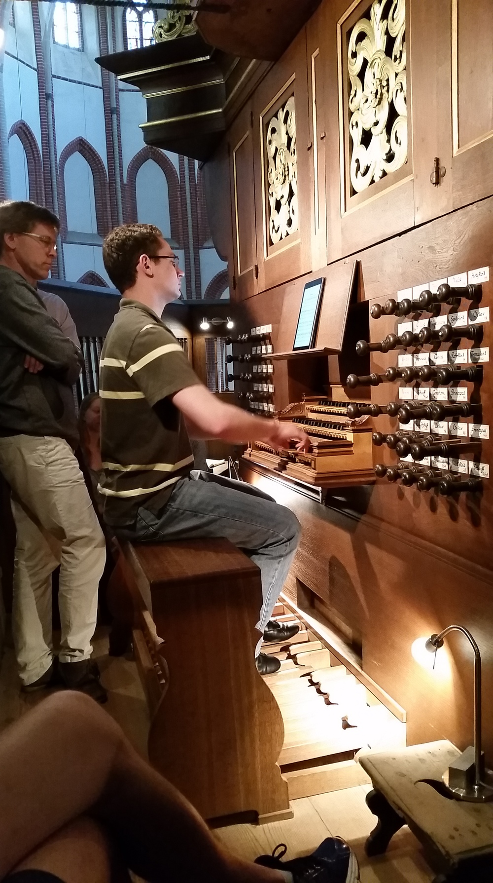David playing Buxtehude on the Schnitger organ during a masterclass with Thiemo Janssen