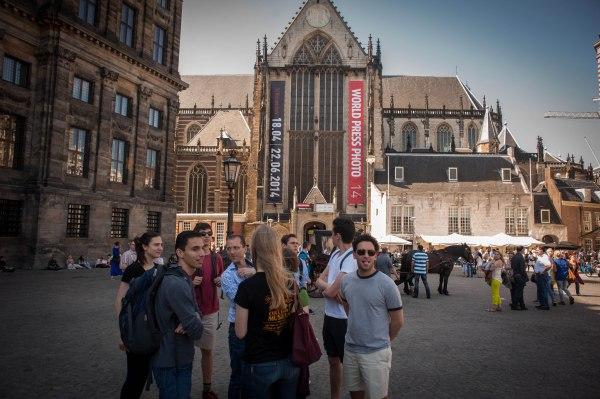 We arrive at Die Nieuwe Kerk!