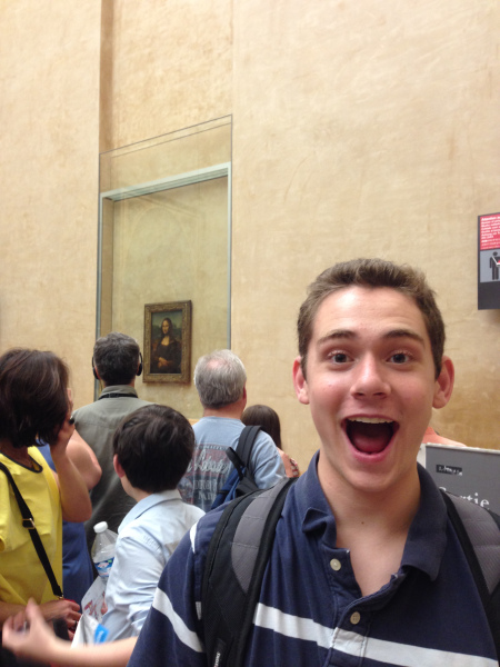 David with the Mona Lisa!