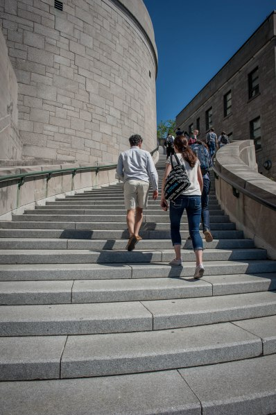 Hiking the steps to the Oratory of St. Joseph in Montreal, Quebec!