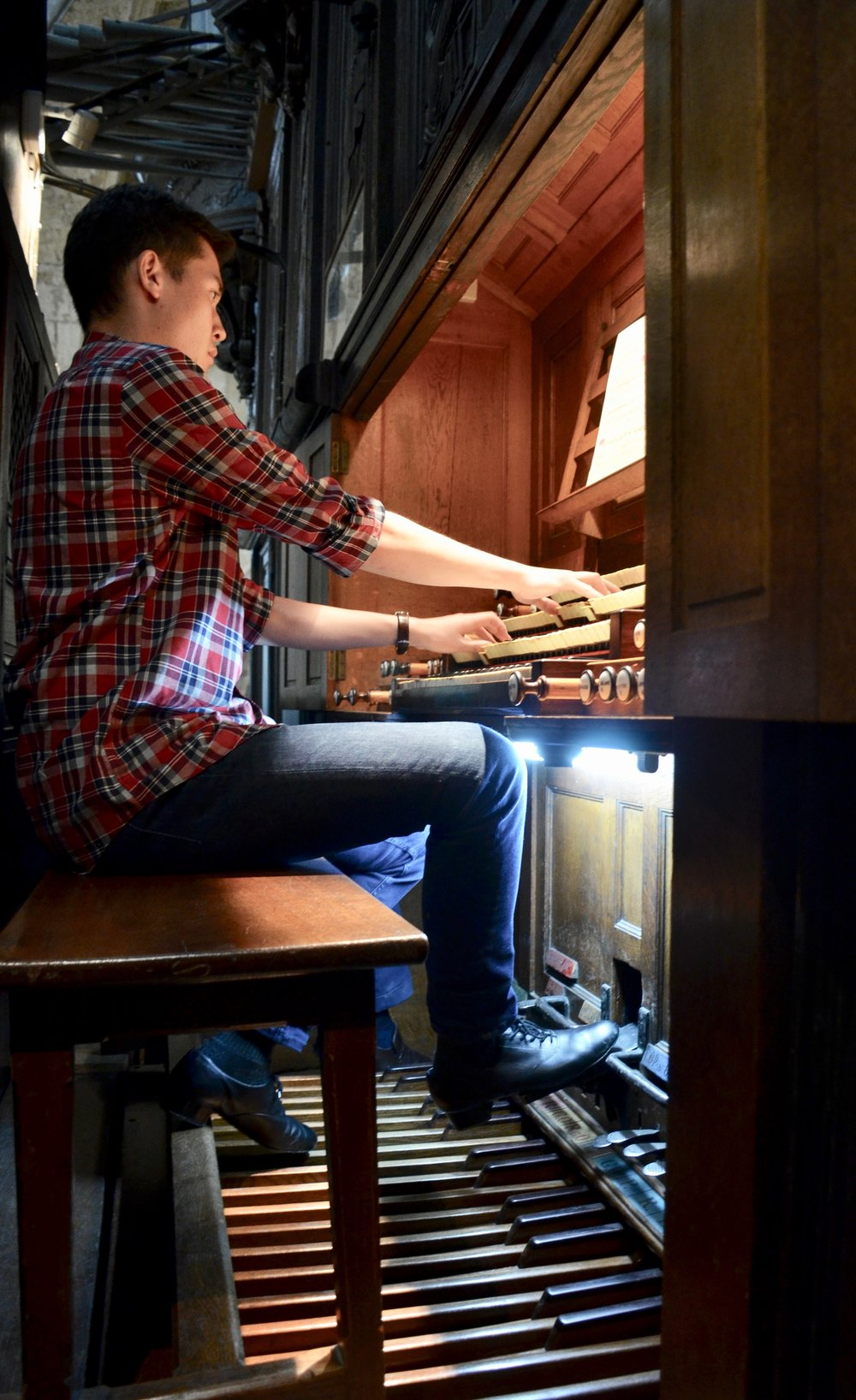 Noel plays Duruflé's Prelude and Fugue on ALAIN - St. Ouen in Rouen, France - Boston Organ Studio