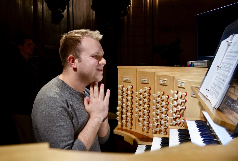 Billy Gardner playing at Notre Dame de Paris - Boston Organ Studio