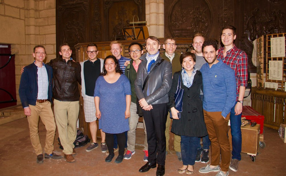 The Boston Organ Studio at Notre Dame de Paris with Olivier Larry - 2017 Boston Organ Studio Study Tour
