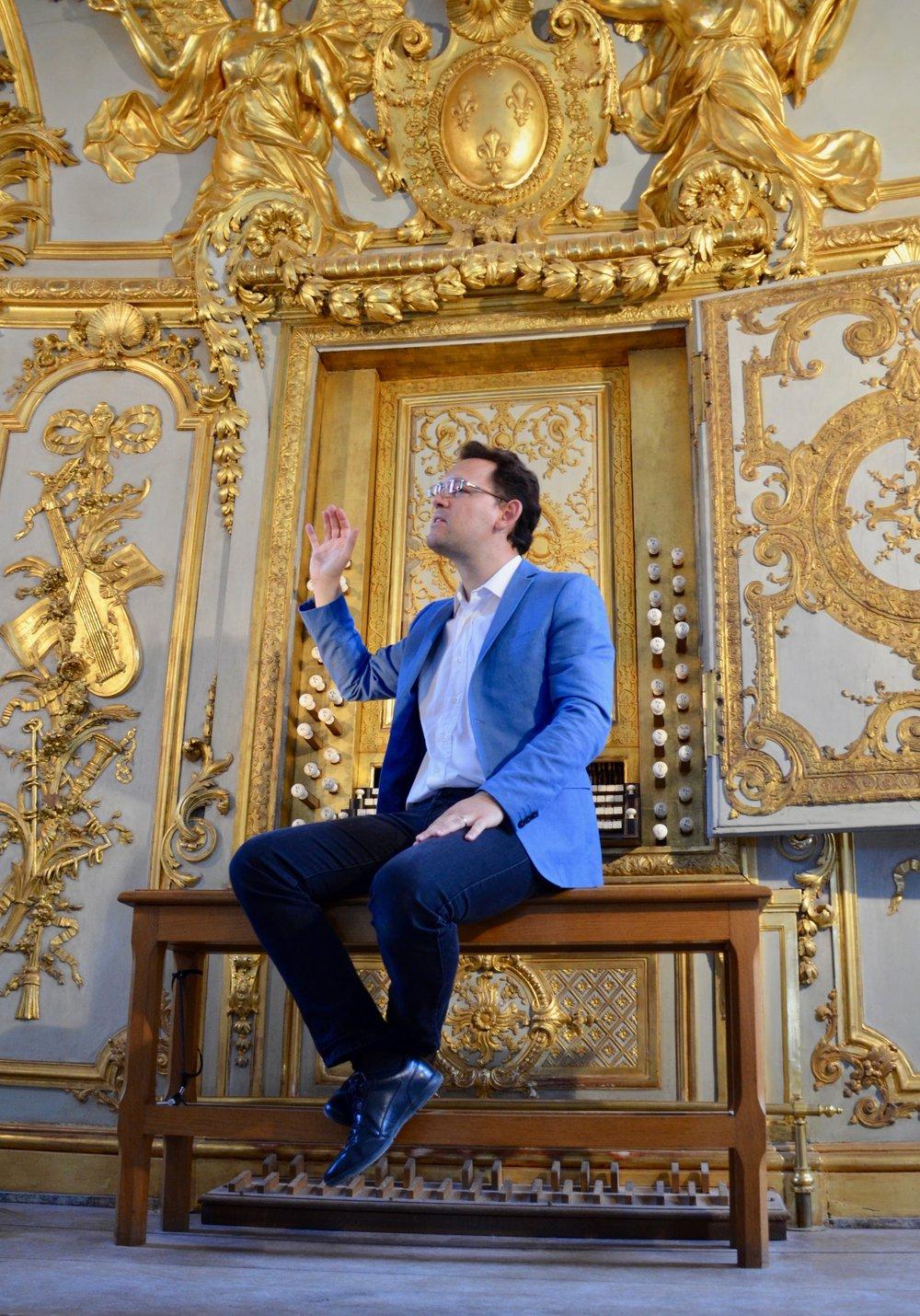 Jean-Baptiste speaks about La Chapelle Royale 0rgan
