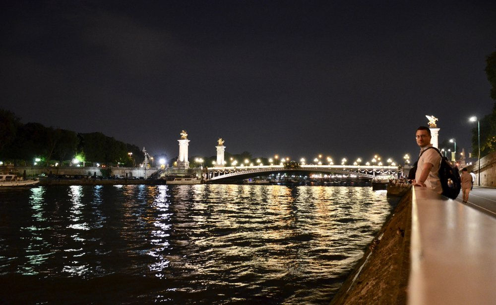 Corey de Tar enjoying the view of Paris