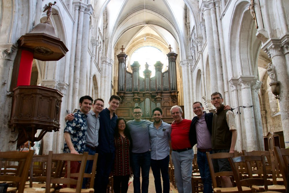 The Boston Organ Studio with the titular organist, Philippe Lecossais at Rozay-en-Brie!