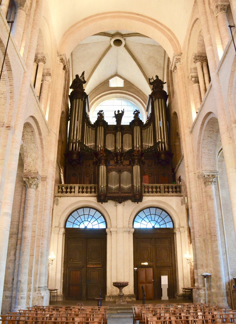 The Cavaillé-Coll organ in St-Sernin, Toulouse.