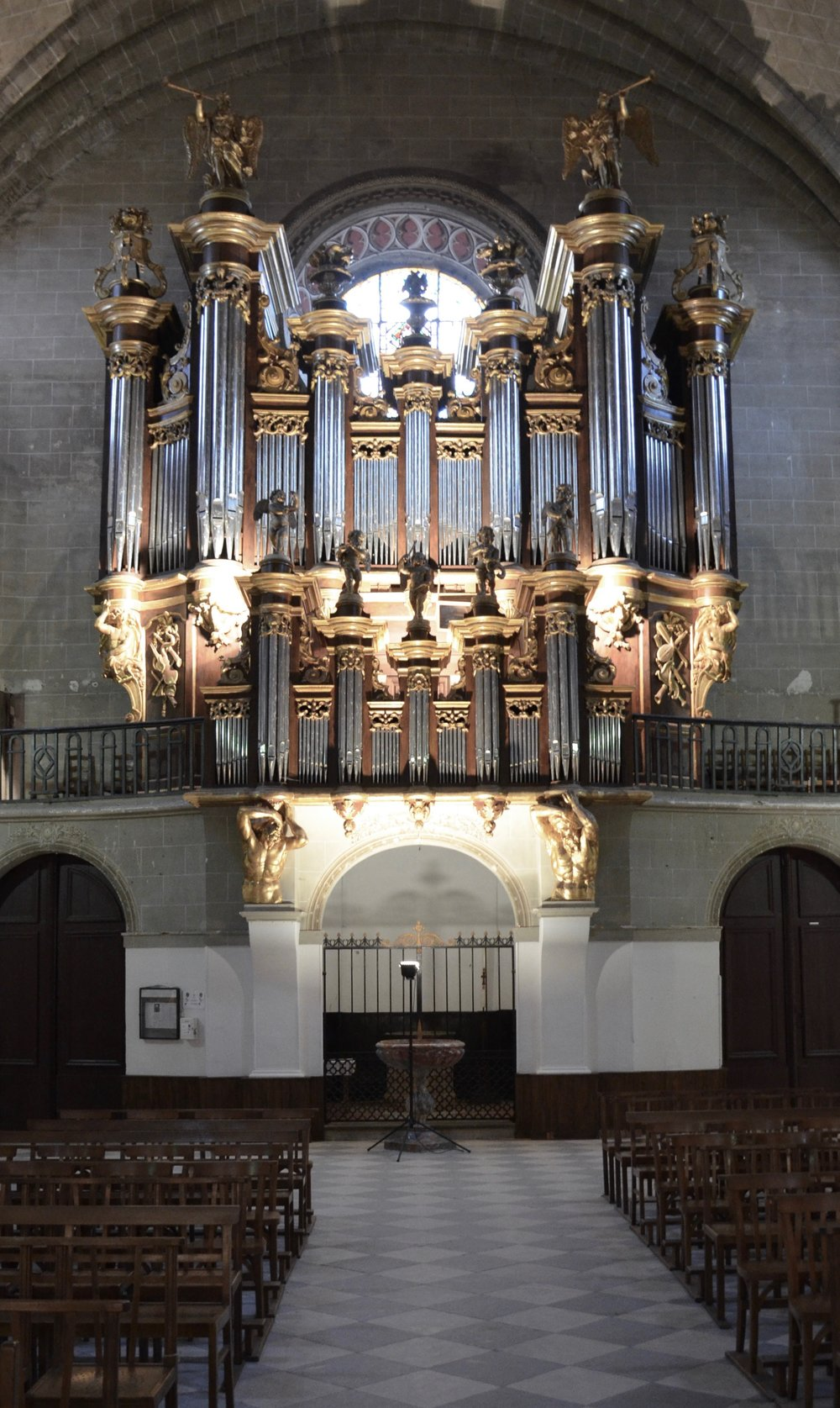 The historic organ of Cintegabelle, France. Boston Organ Studio.