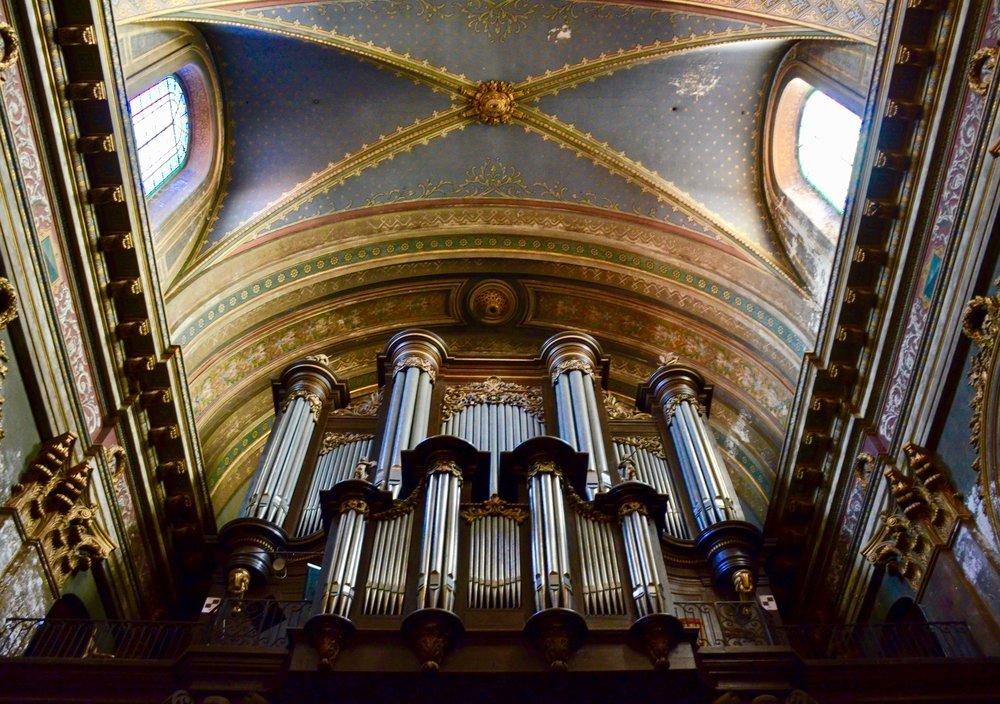 The organ of Notre Dame La Daurade, Toulouse.