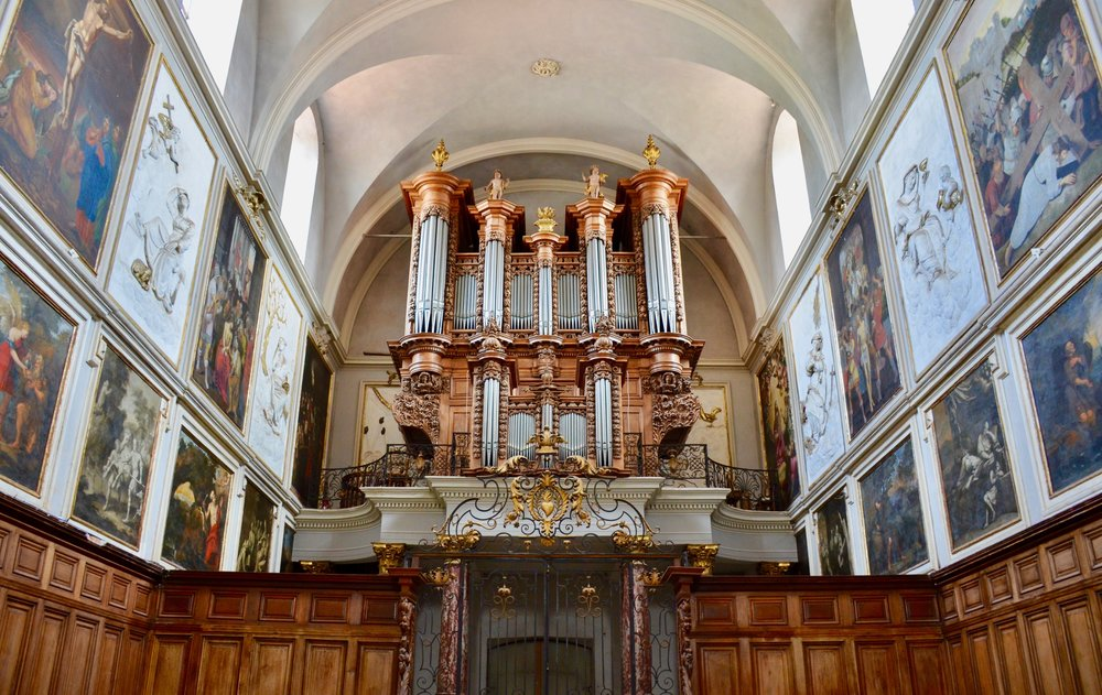 The 1683/1783 organ in St. Pierre des Chartreux, Toulouse.