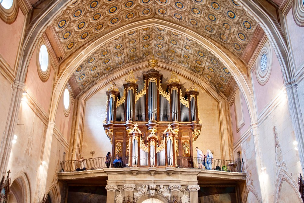 Organ in St. Felix-Lauragais built by Gregoire Rabiny