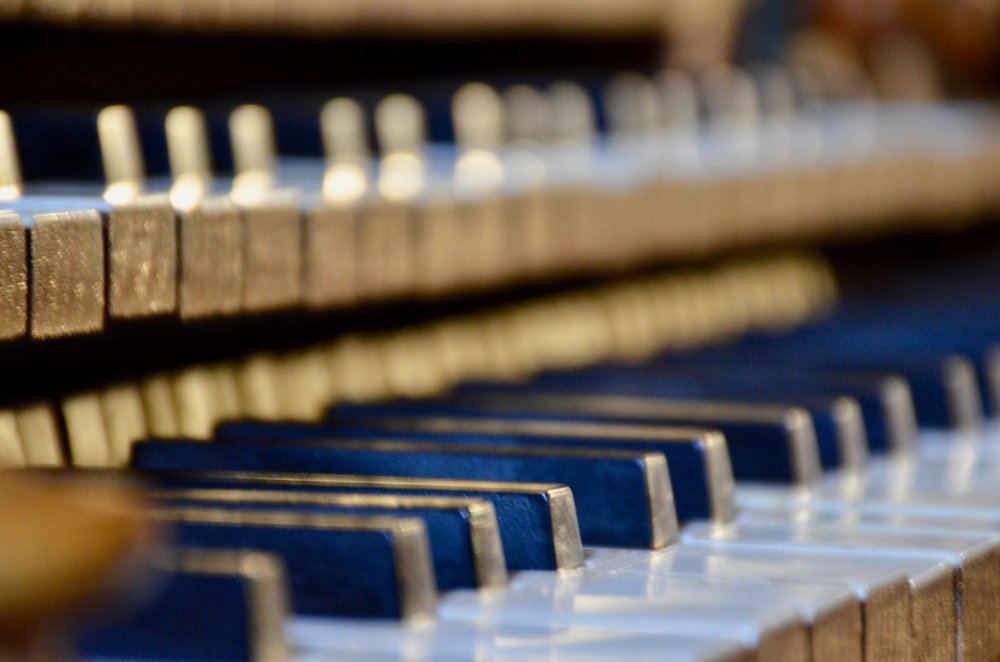 Key desks of St. Felix church organ built by Gregoire Rabiny