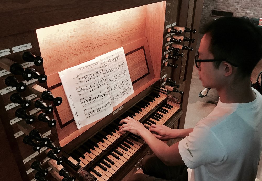Organist Dennis Chan plays Bach at First Lutheran Church