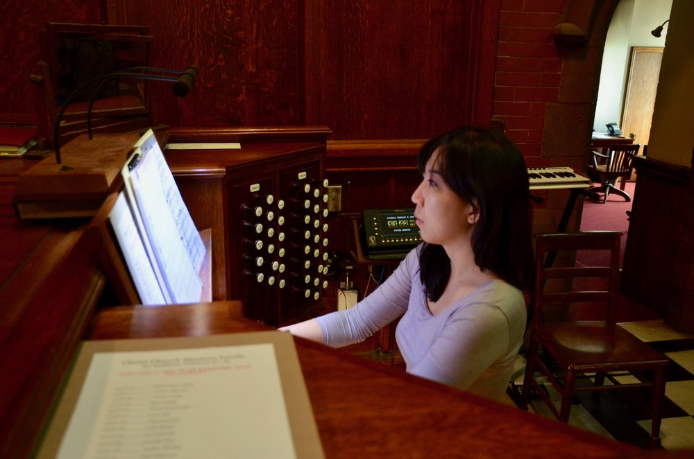 Grace Lee performs at Christ Church New Haven