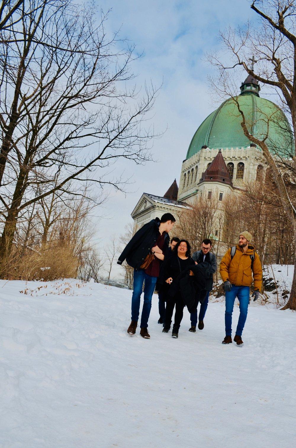 Members of Boston Organ Studio at St Joseph Oratory, Montreal