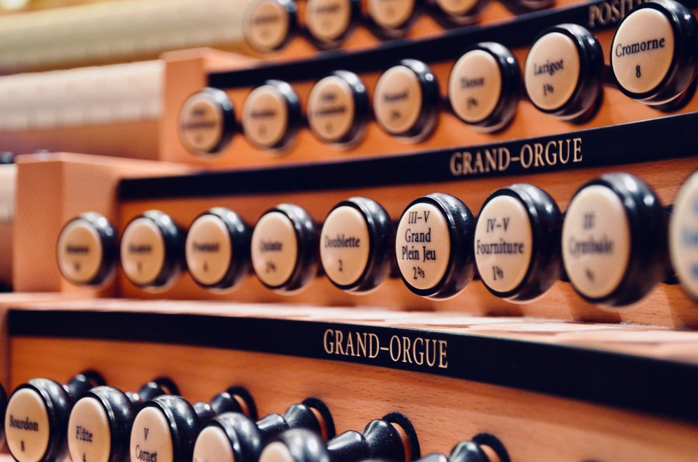 Console detail, Grand Orgue Pierre-Béique (Casavant) in Maison Symphonique, Montréal