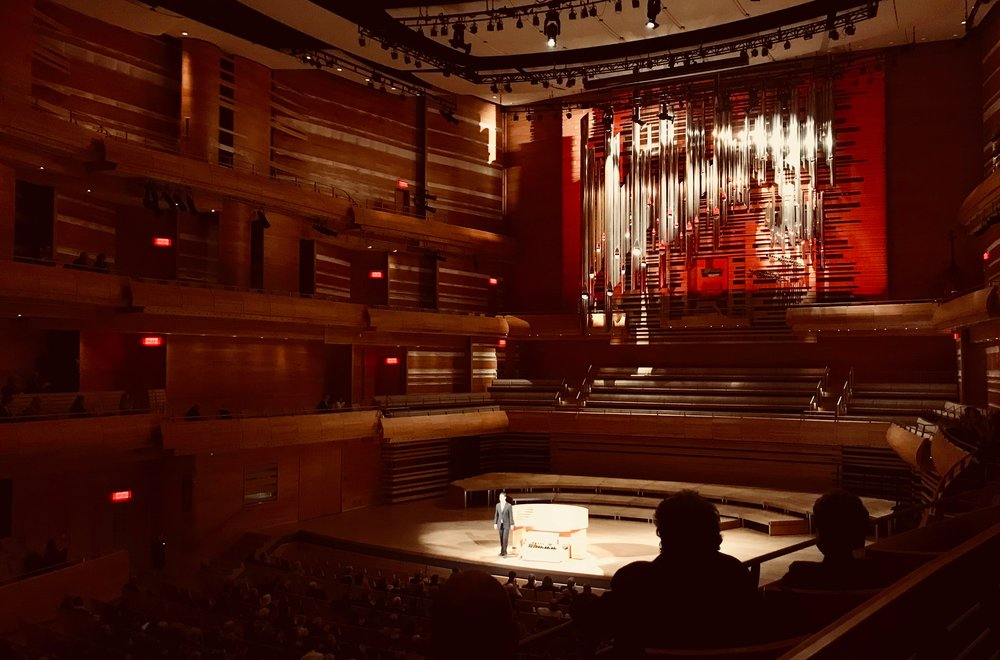 Organist Nathan Laube performs at Maison Symphonique, Montreal.