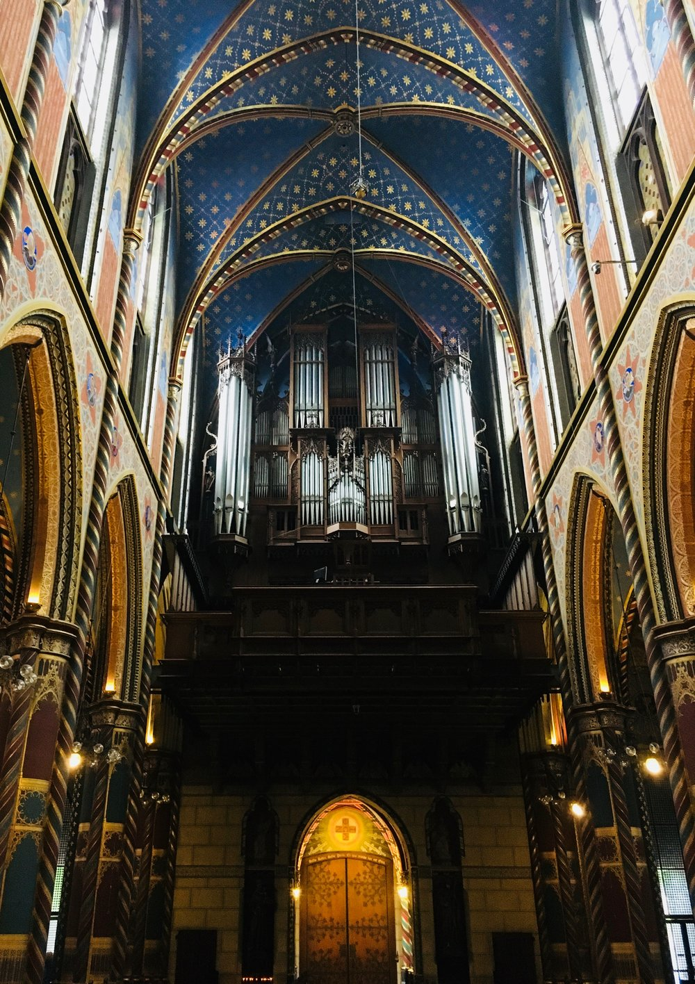 Boston Organ Studio member visits the romantic organ in Kevalaer, enroute to meeting the group in Amsterdam.