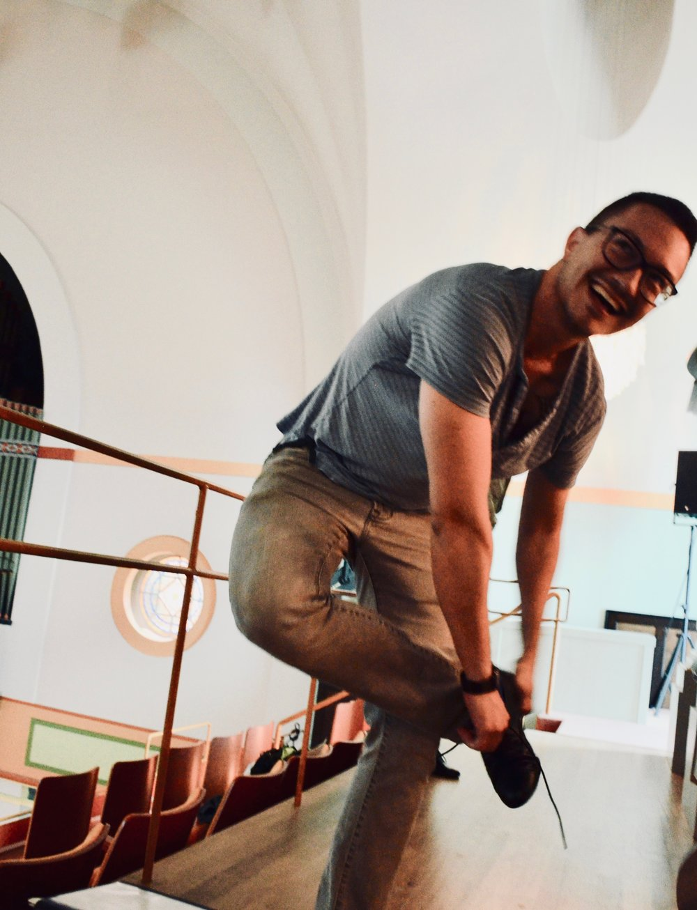 Corey De Tar is smiles at Orgelpark, Amsterdam. Boston Organ Studio.