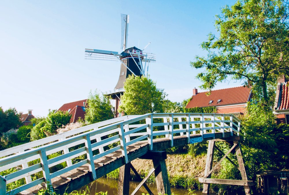 The windmill in Mensingeweer, Holland.