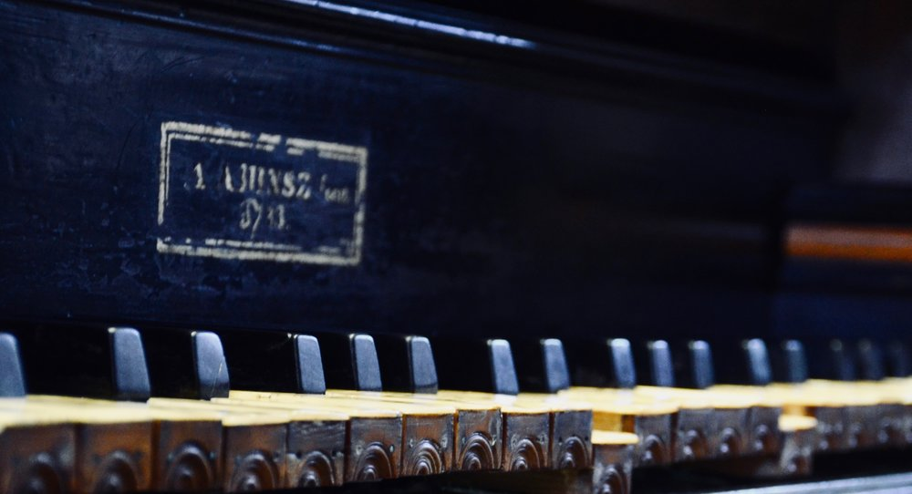 Keydesk detail, 1733 Hinsz organ, Leens, Holland.