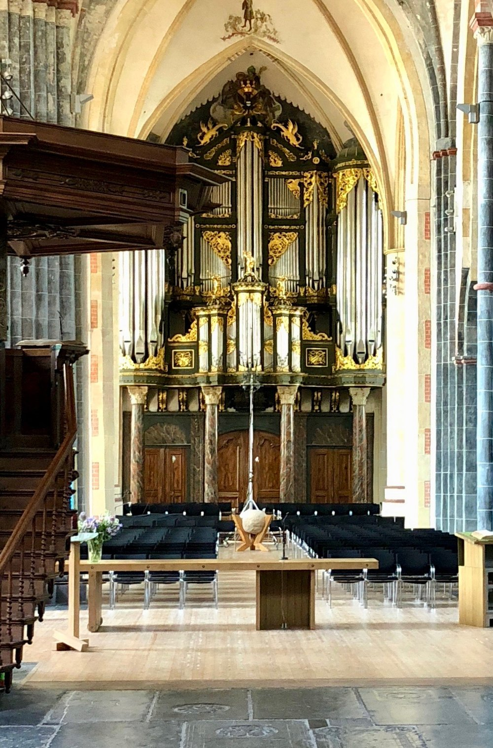 1692 Arp Schnitter organ as viewed from the Quire, Martinikerk, Groningen.