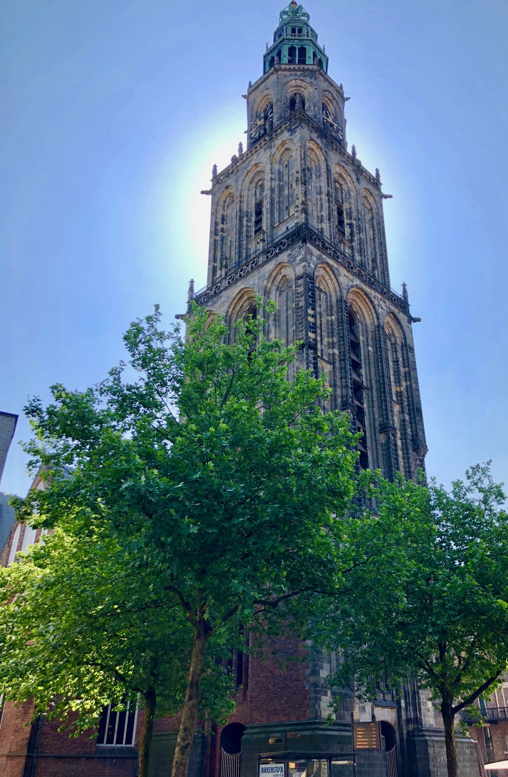 The tower of Martinikerk, Groningen.