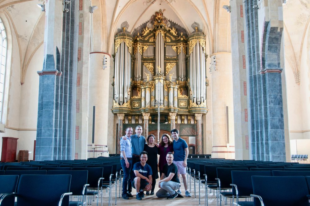 Members of Boston Organ Studio at Martinikerk, Groningen. 1692 Arp Schnitger organ.