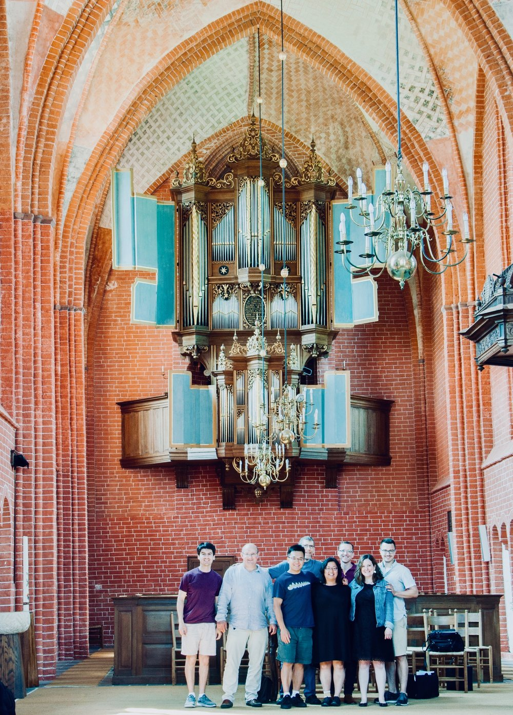 Members of Boston Organ Studio in Zeerijp, Holland.
