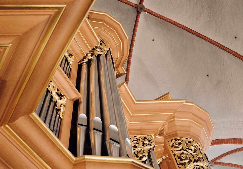 Casework detail, 1693 Schnitger organ, St. Jacobi, Hamburg.