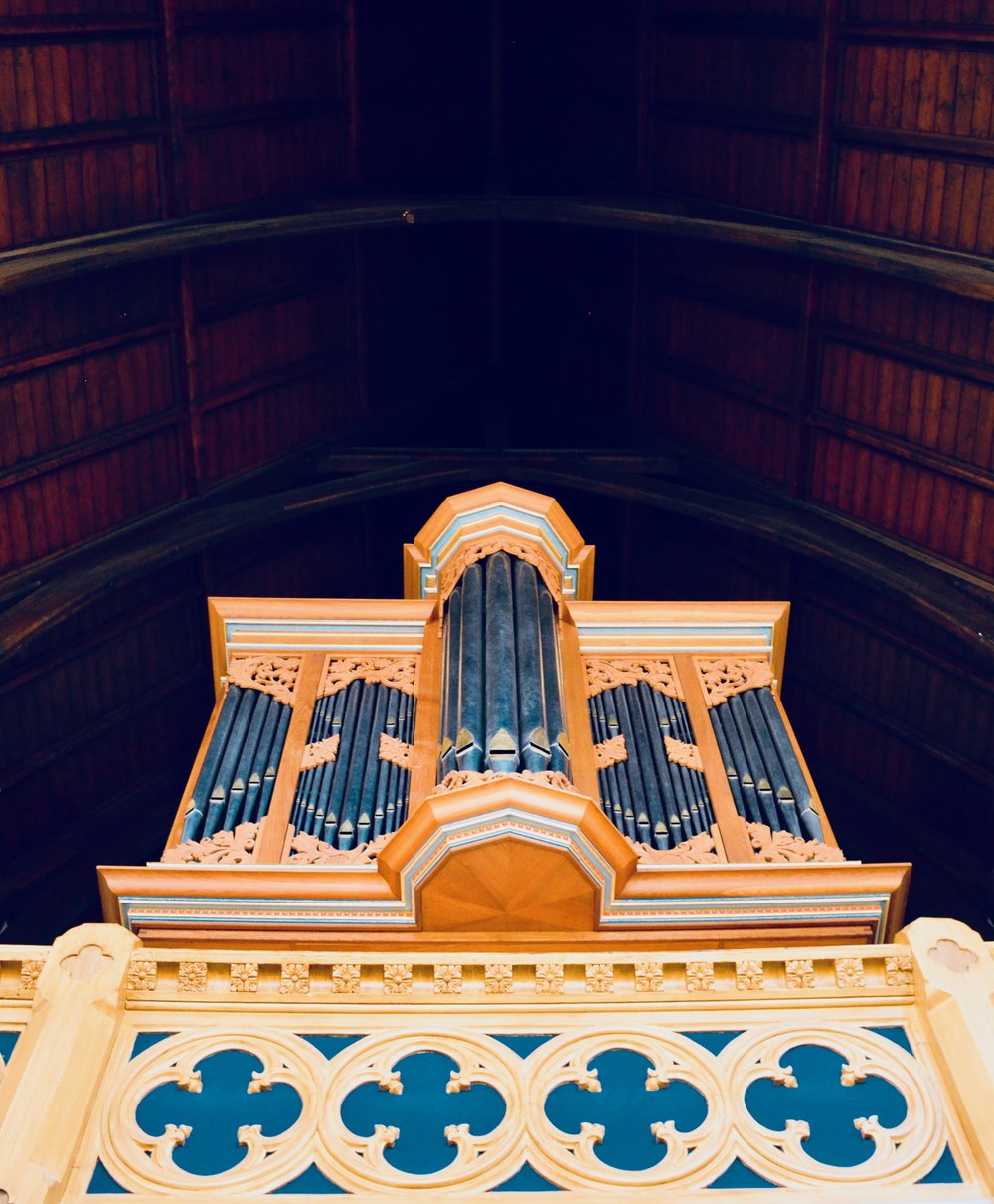 1992 Brombaugh organ, Haga Church, Göteborg, Sweden.