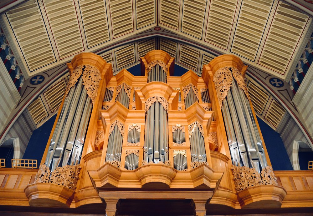 2000 GoART North German Baroque Research Organ in Örgryte New Church, Göteborg, Sweden.