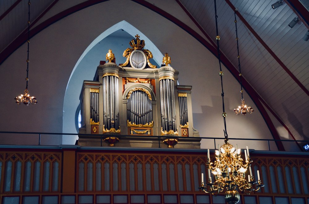 1783 Schiörlin organ in Jonsered, Sweden.