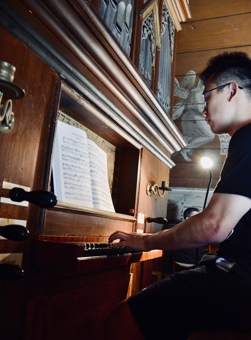 Adrian Cho plays the historic organ in the 1652 chapel, Kulturen, Lund, Sweden.