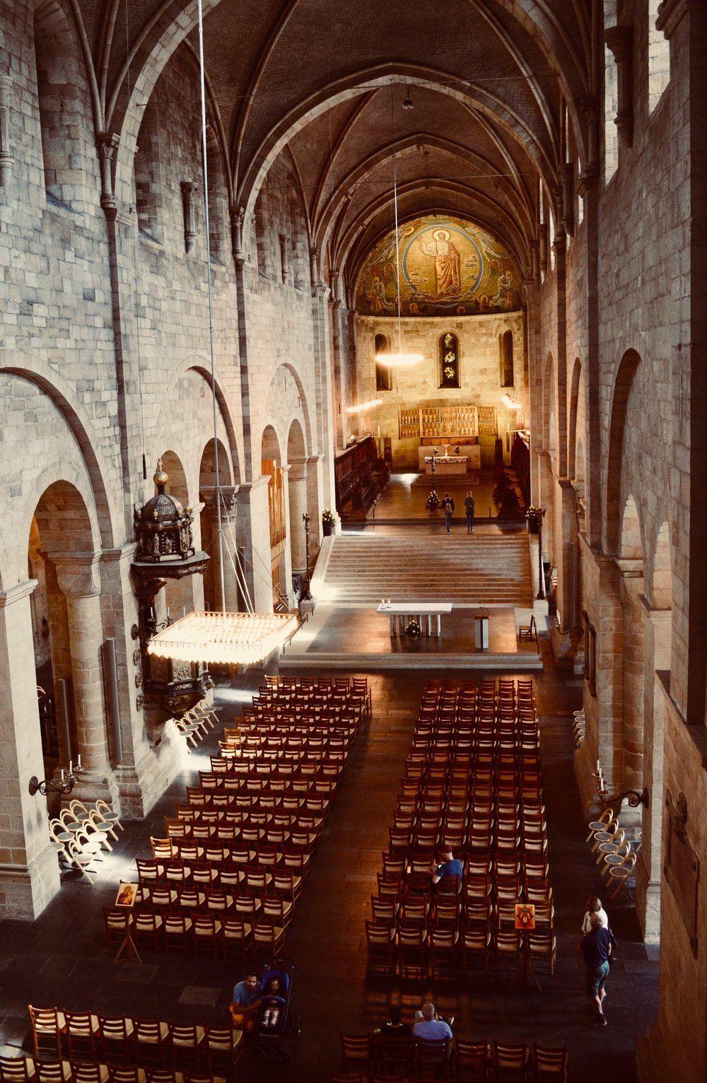 Lund Cathedral, as seen from the organ gallery.