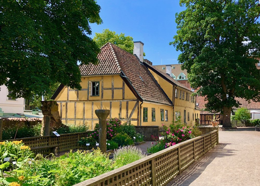 A historic structure, as reconstructed in Kulturen, Lund, Sweden.