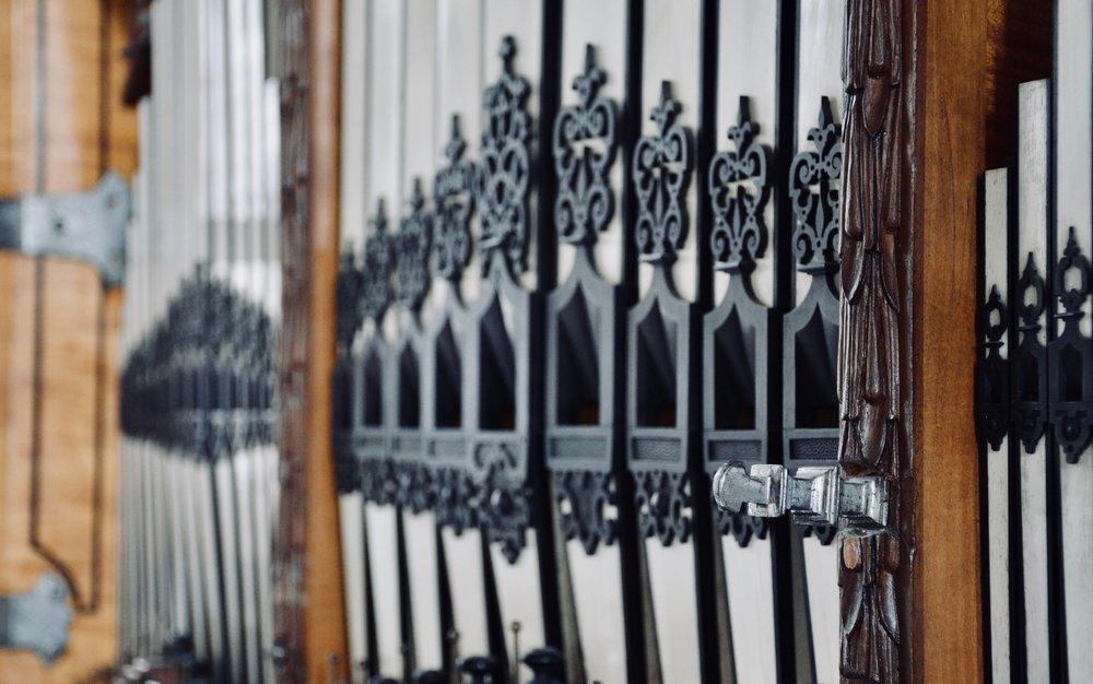 Façade detail, 1610 Compenius organ, Frederiksborg Castle, Hillerød, Denmark.