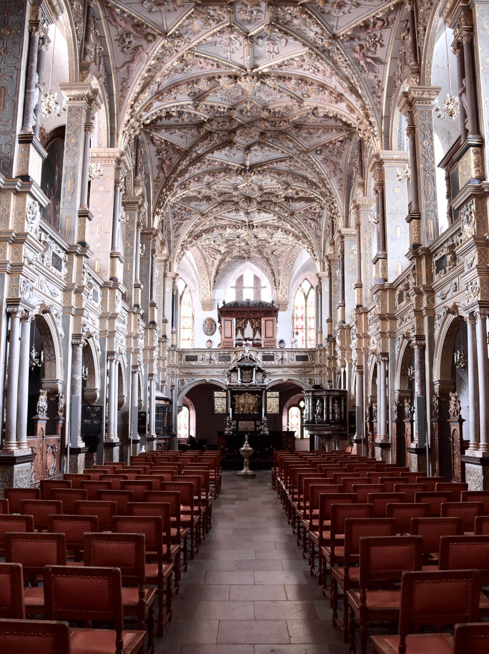 1617 Chapel and 1610 Compenius organ, Frederiksborg Castle, Hillerød, Denmark.