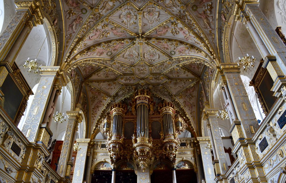Chapel organ, Frederiksborg Castle, Hillerød, Denmark.