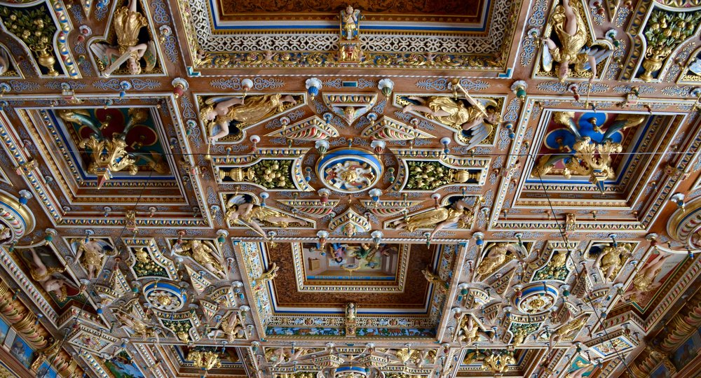 Ceiling detail, The Great Hall, Frederiksborg Castle, Hillerød, Denmark.