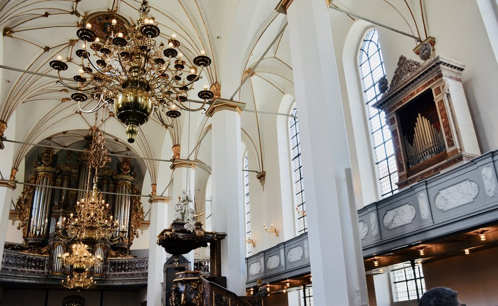 The organs of Trinitatis Kirke, Copenhagen.