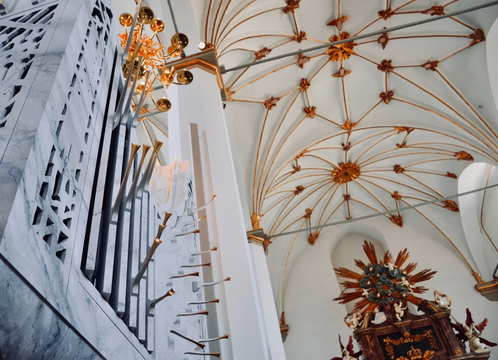 The modern choir organ of Trinitatis Kirke, Copenhagen.