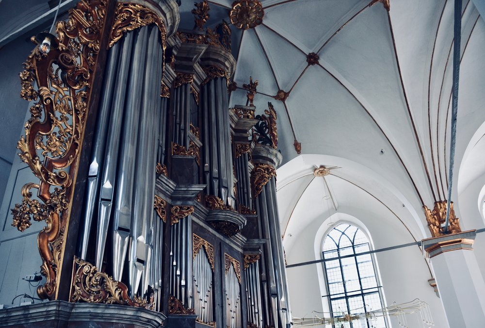 The gallery organ, Trinitatis Kirke, Copenhagen.