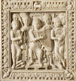 Plaques de reliure du psautier de Dagulf, Ecole du palais de Charlemagne, Musée du Louvre, VIIIe siècle.