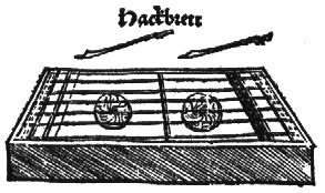 Hackbrett, Virdung, 1511.