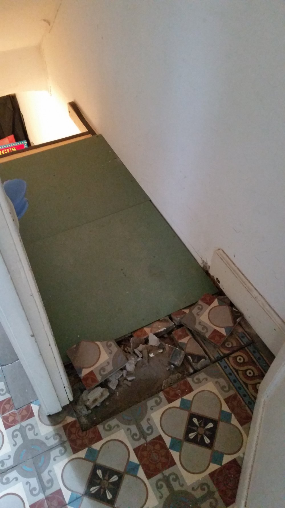 Ombouw keldertrap naar wc