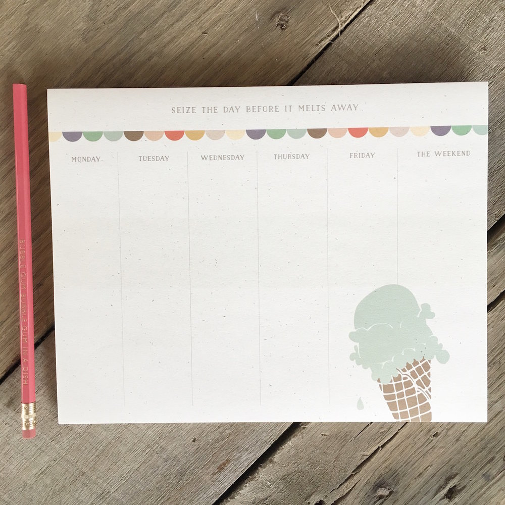 Double Scoop Weekly To Do Notepad